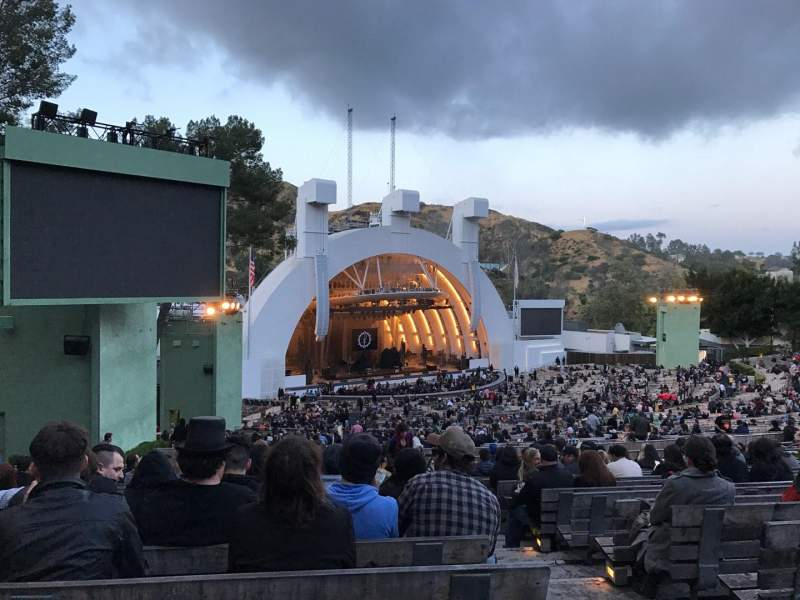 Hollywood bowl section k3 row 18 seat 3 a perfect for Hollywood bowl terrace 5