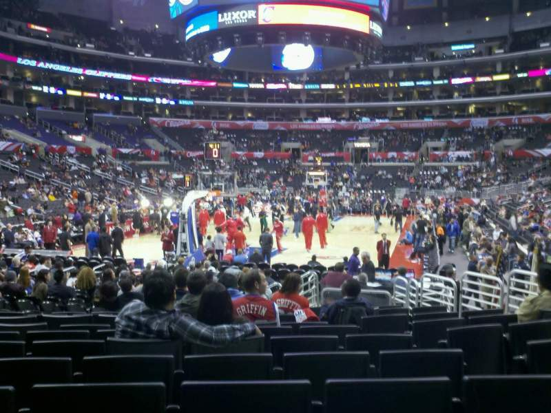 Seating view for Staples Center Section 115 Row 13 Seat 10