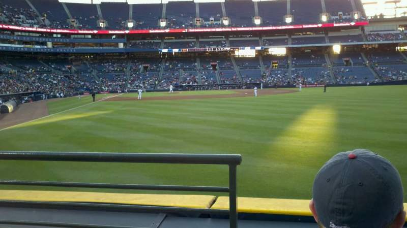 Seating view for Turner Field Section 135 Row 13 Seat 1