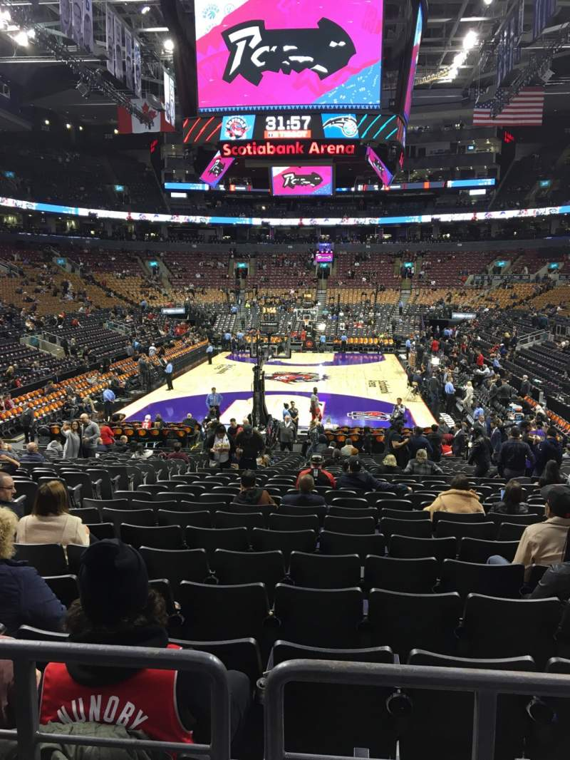 Seating view for Scotiabank Arena Section 102 Row 18 Seat 14