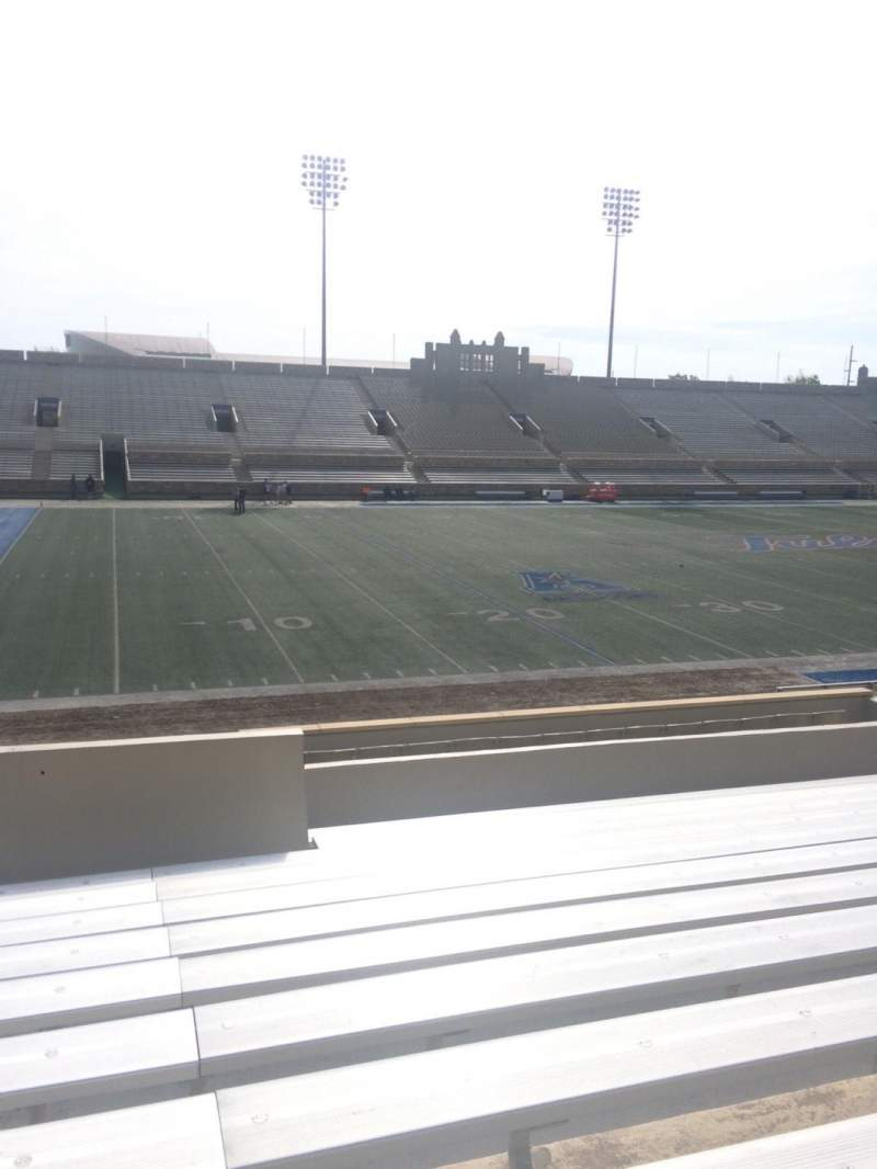 Seating view for H. A. Chapman Stadium Section 121 Row 11 Seat 11