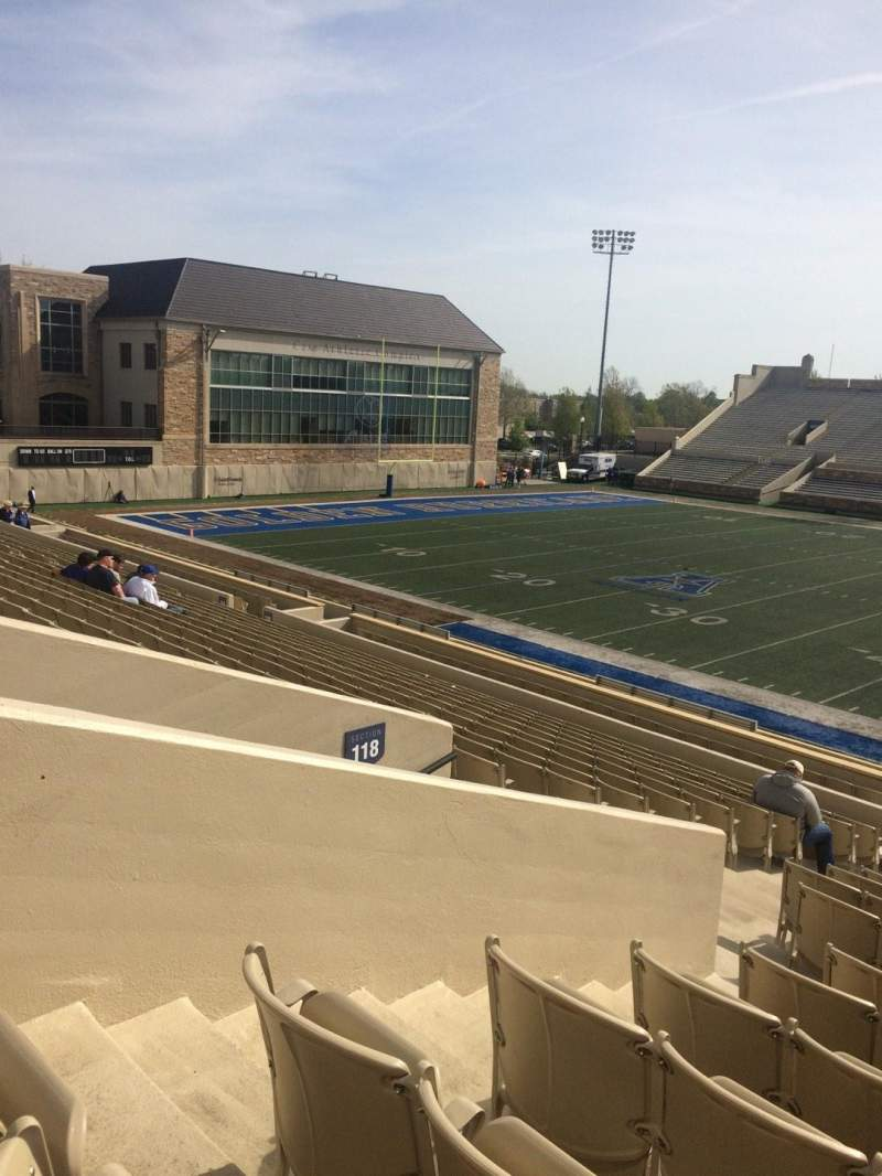 Seating view for H. A. Chapman Stadium Section 118 Row 23 Seat 23