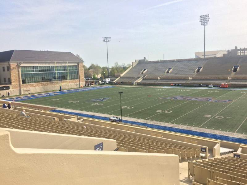 Seating view for H. A. Chapman Stadium Section 117 Row 23 Seat 24