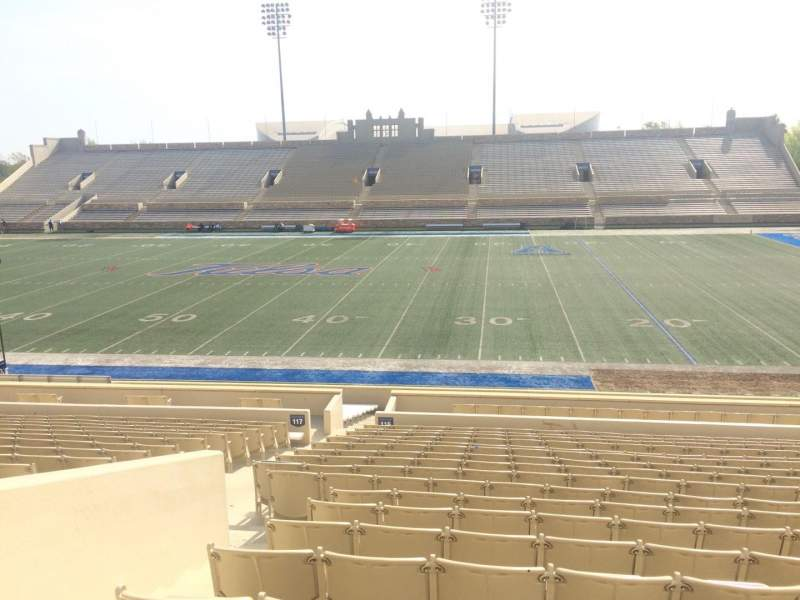 Seating view for H. A. Chapman Stadium Section 116 Row 15 Seat 15