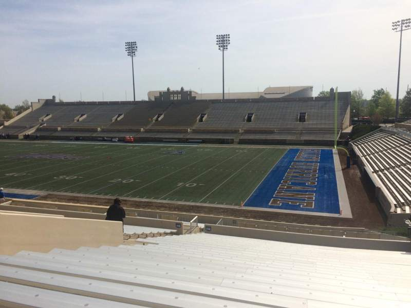 Seating view for H. A. Chapman Stadium Section 114 Row 36 Seat 15