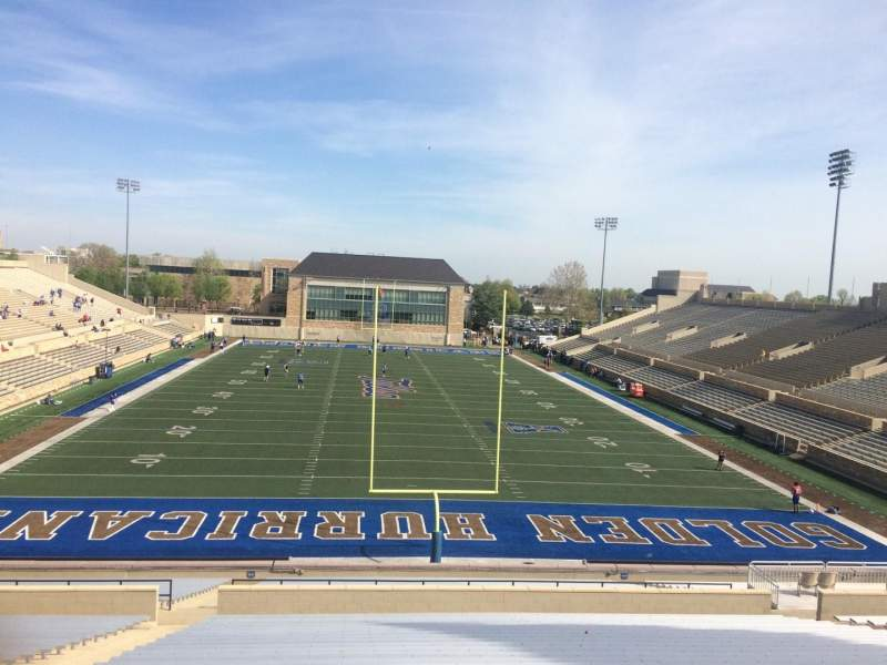 Seating view for H. A. Chapman Stadium Section 111 Row 45 Seat 22