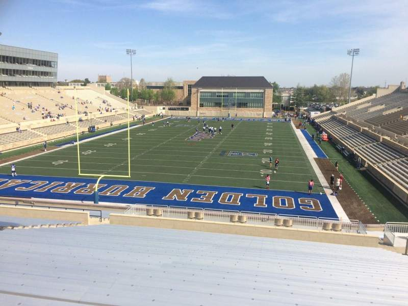 Seating view for H. A. Chapman Stadium Section 110 Row 46 Seat 13