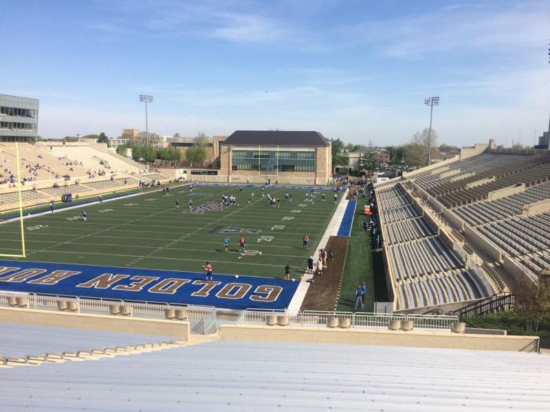 Seating view for H. A. Chapman Stadium Section 109 Row 45 Seat 27
