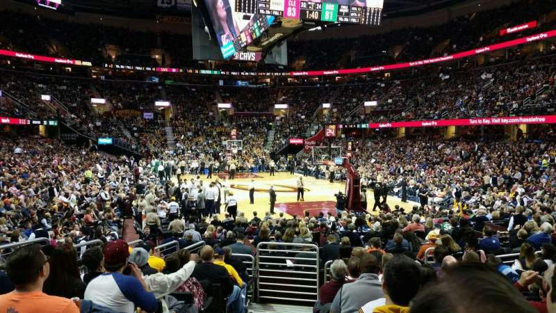 Seating view for Quicken Loans Arena Section 133 Row 10 Seat 1