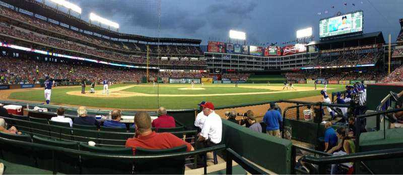 Seating view for Globe Life Park in Arlington Section 31 Row 2 Seat 5