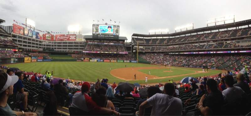 Seating view for Globe Life Park in Arlington Section 16 Row 24 Seat 14