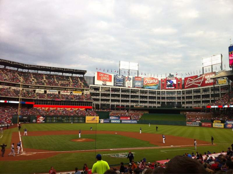 Seating view for Globe Life Park in Arlington Section 30 Row 22 Seat 10