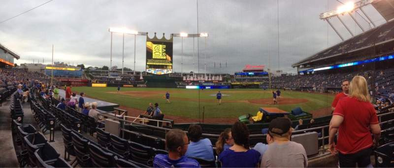 Seating view for Kauffman Stadium Section 124 Row E Seat 7