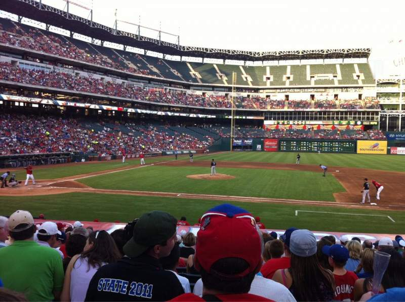 Seating view for Globe Life Park in Arlington Section 33 Row 16 Seat 8