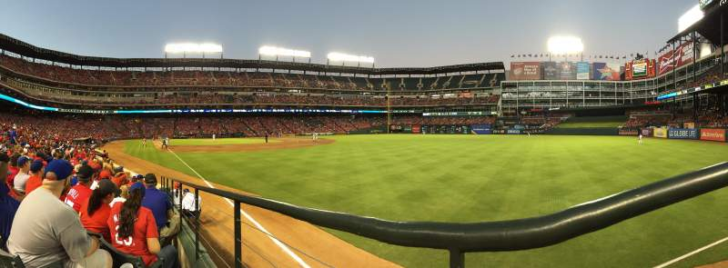Seating view for Globe Life Park in Arlington Section 40 Row 8 Seat 1