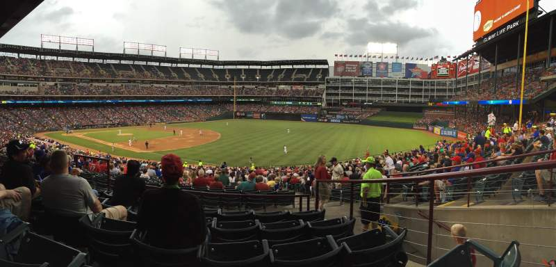 Seating view for Globe Life Park in Arlington Section 139 Row 37 Seat 4