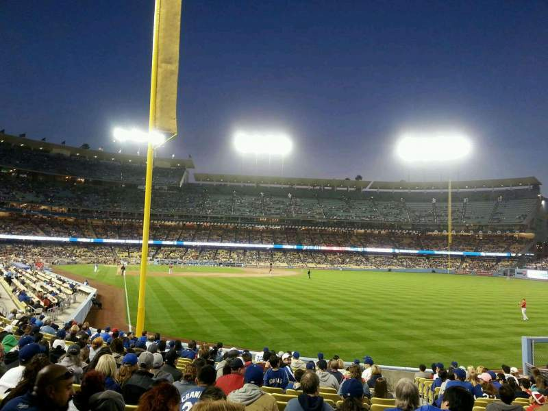 Seating view for Dodger Stadium Section 50FD Row T Seat 21