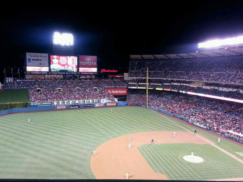 Seating view for Angel Stadium Section V512 Row A Seat 10