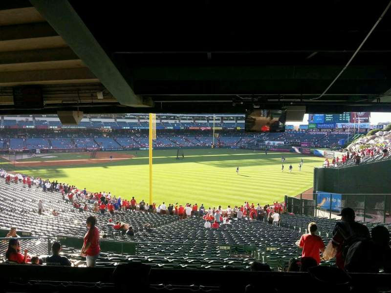 Seating view for Angel Stadium Section 231 Row SA Seat 14