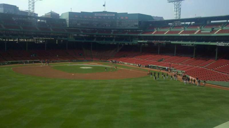 Seating view for Fenway Park Section Green Monster 10 Row 1 Seat 1