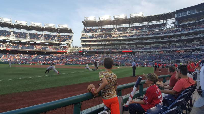 Seating view for Nationals Park Section 111 Row B Seat 12
