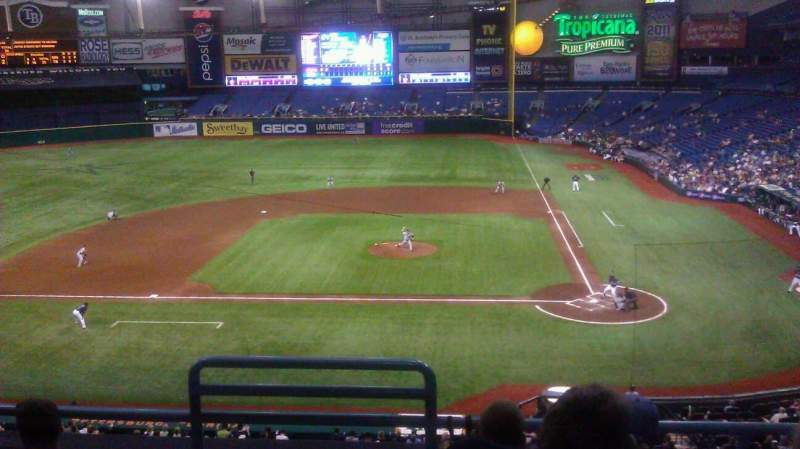 Seating view for Tropicana Field Section 207 Row E Seat 1