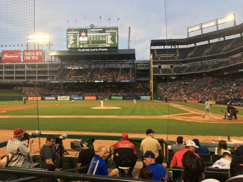Seating view for Globe Life Park in Arlington Section 21 Row 5 Seat 1