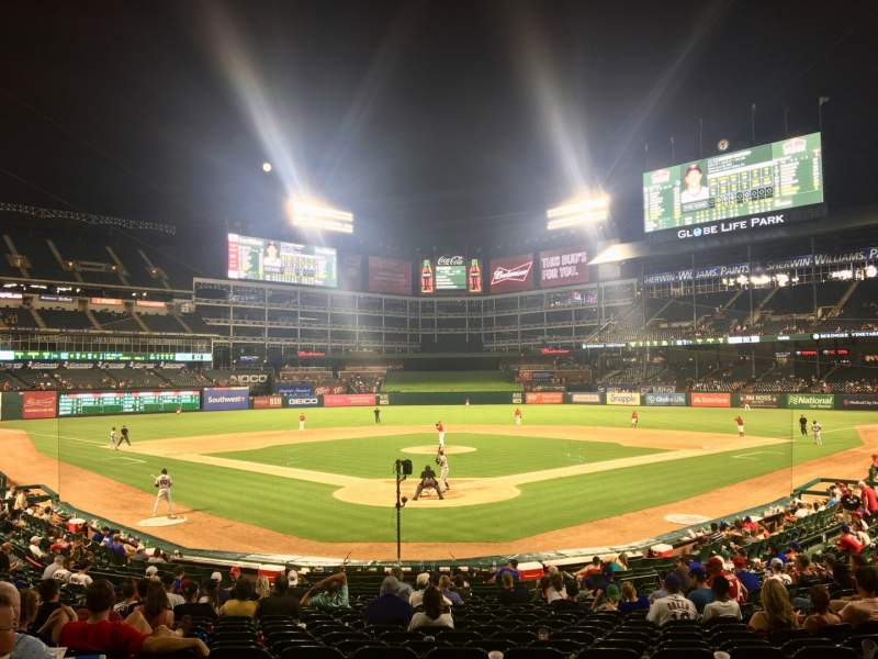 Seating view for Globe Life Park in Arlington Section 26 Row 20 Seat 9