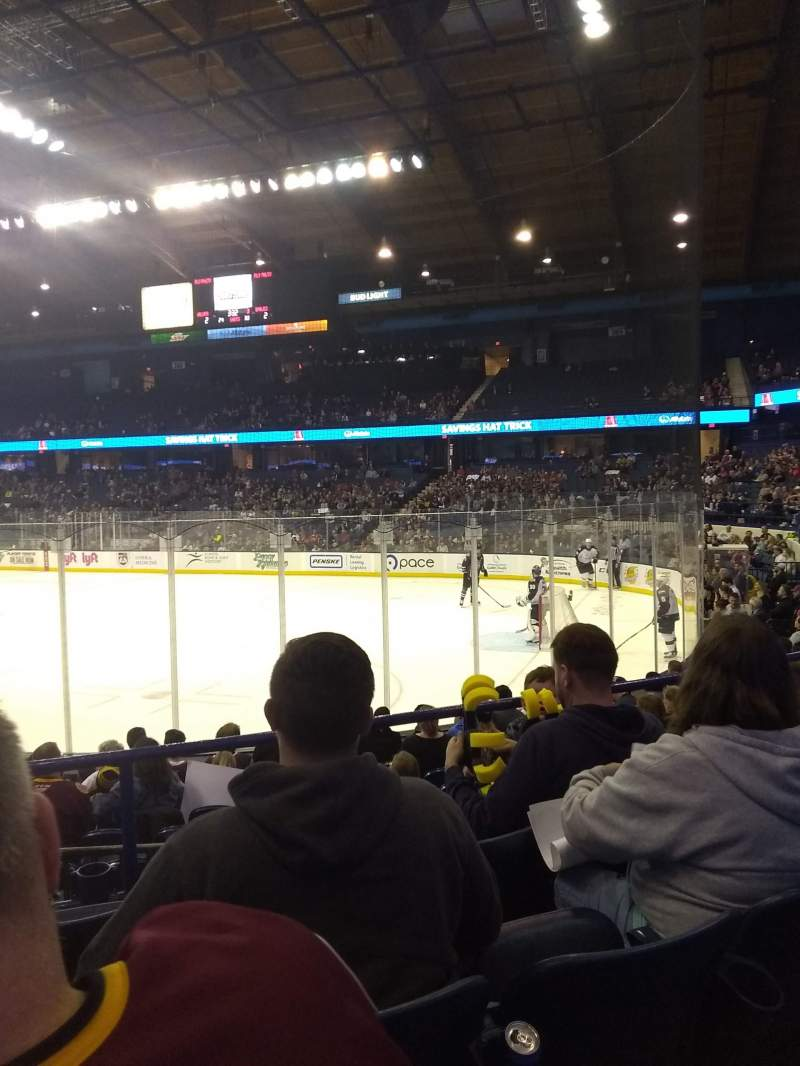 Seating view for Allstate Arena Section 108 Row G