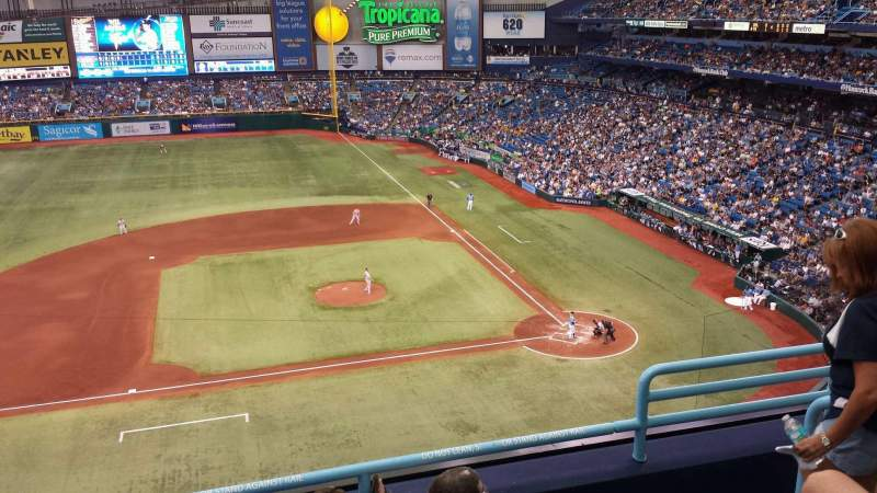 Seating view for Tropicana Field Section 311 Row E Seat 17