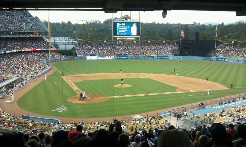 Seating view for Dodger Stadium Section 114LG Row V Seat 7