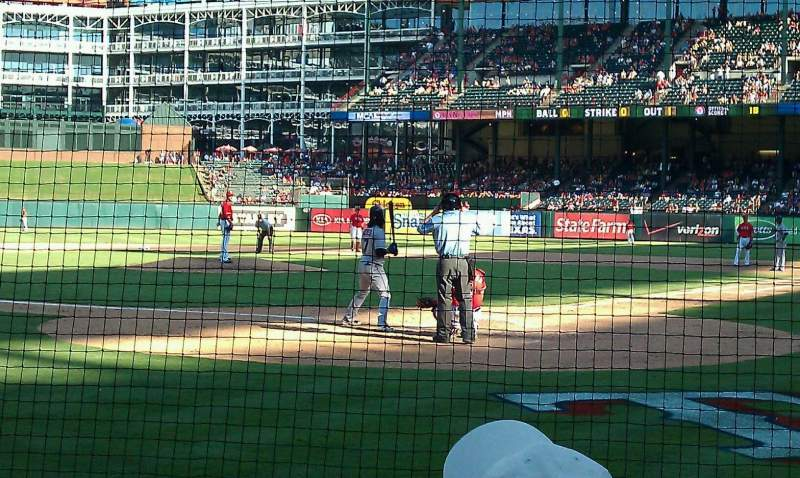 Seating view for Globe Life Park in ArlingtonRow 4