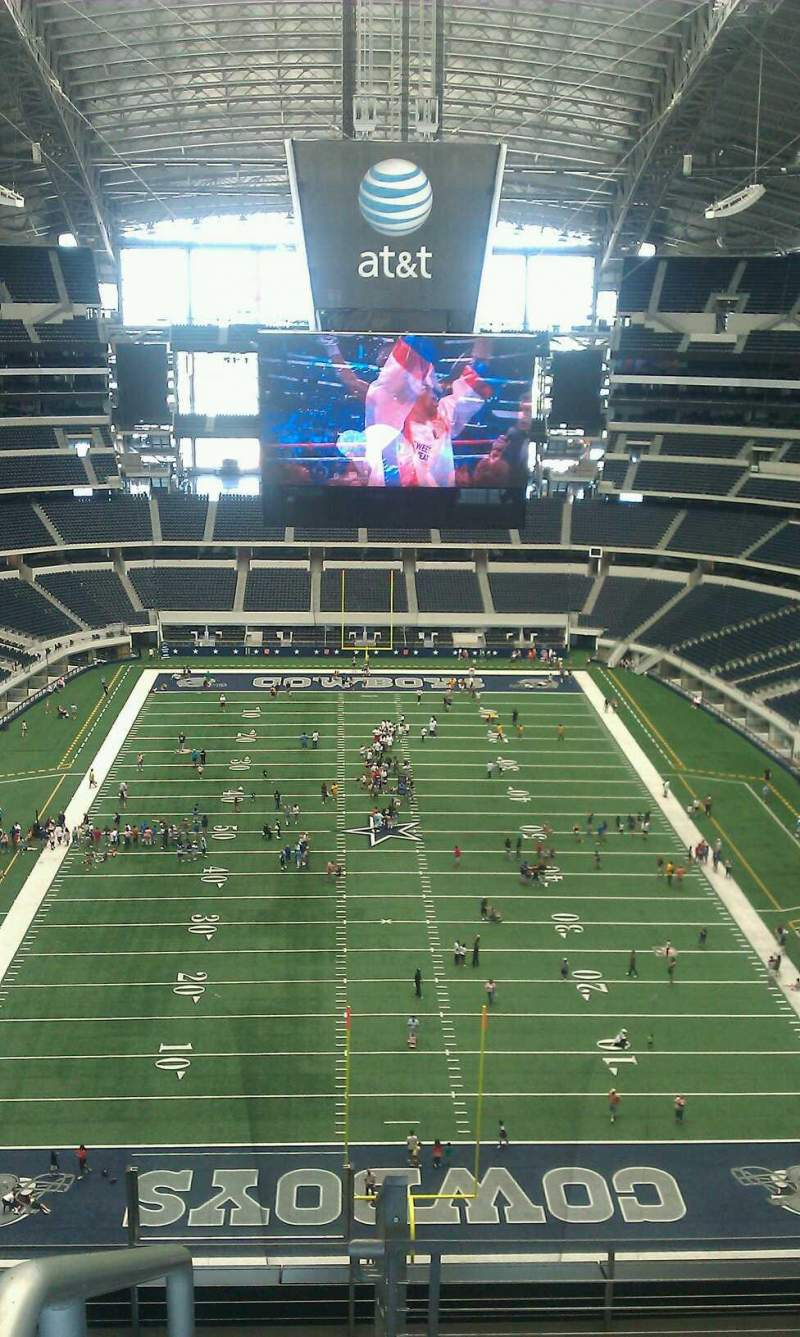 Seating view for AT&T Stadium Section 458 Row 1 Seat 1