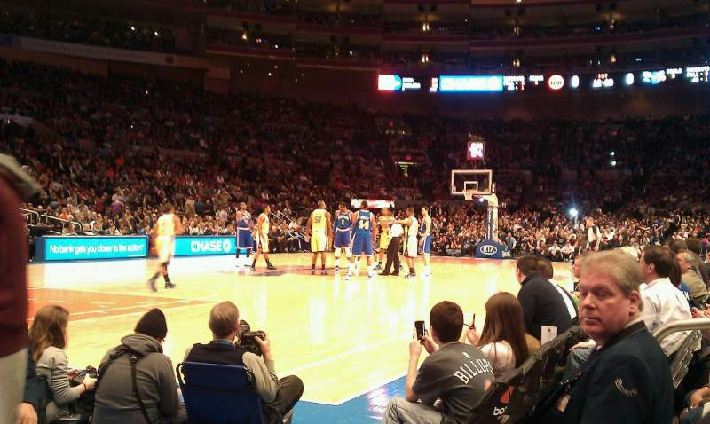 Seating view for Madison Square Garden Section 109 Row 1 Seat 13