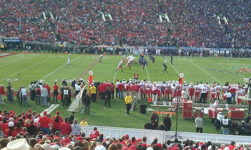 Seating view for Rose Bowl Section 18-L Row 10 Seat 11