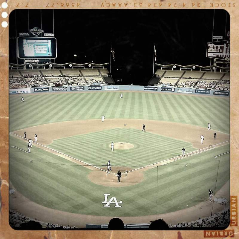 Seating view for Dodger Stadium Section 1 Row E Seat 3