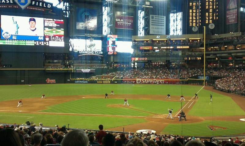Seating view for Chase Field Section 125 Row 38 Seat 13
