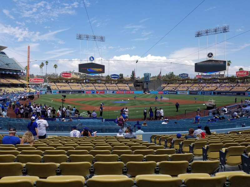 Seating view for Dodger Stadium Section 4fd Row P Seat 9