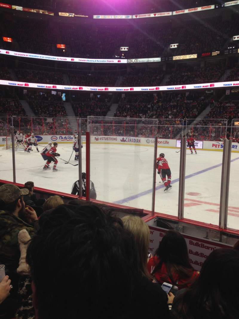 Seating view for Canadian Tire Centre Section 116 Row F Seat 13