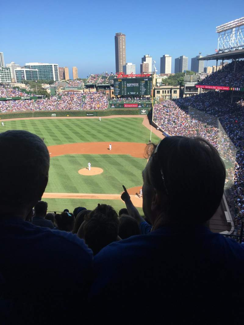 Seating view for Wrigley Field Section 313L Row 10 Seat 15