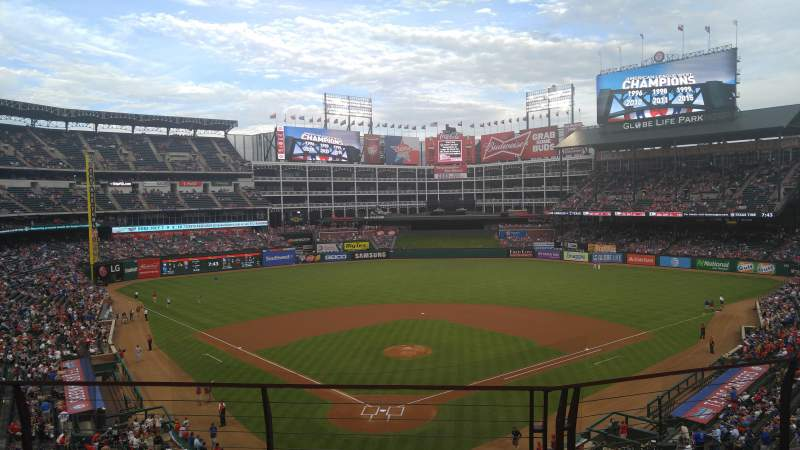 Seating view for Globe Life Park in Arlington Section 227 Row 3 Seat 6