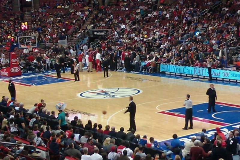 Seating view for Wells Fargo Center Section 116