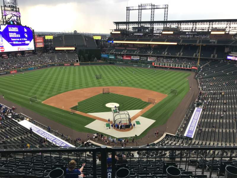 Seating view for Coors Field Section U332 Row 11 Seat 6