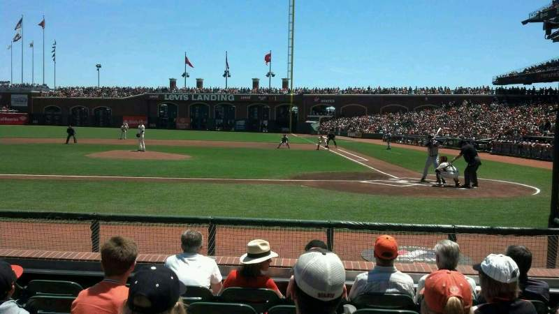 Seating view for AT&T Park Section 121 Row d Seat 12