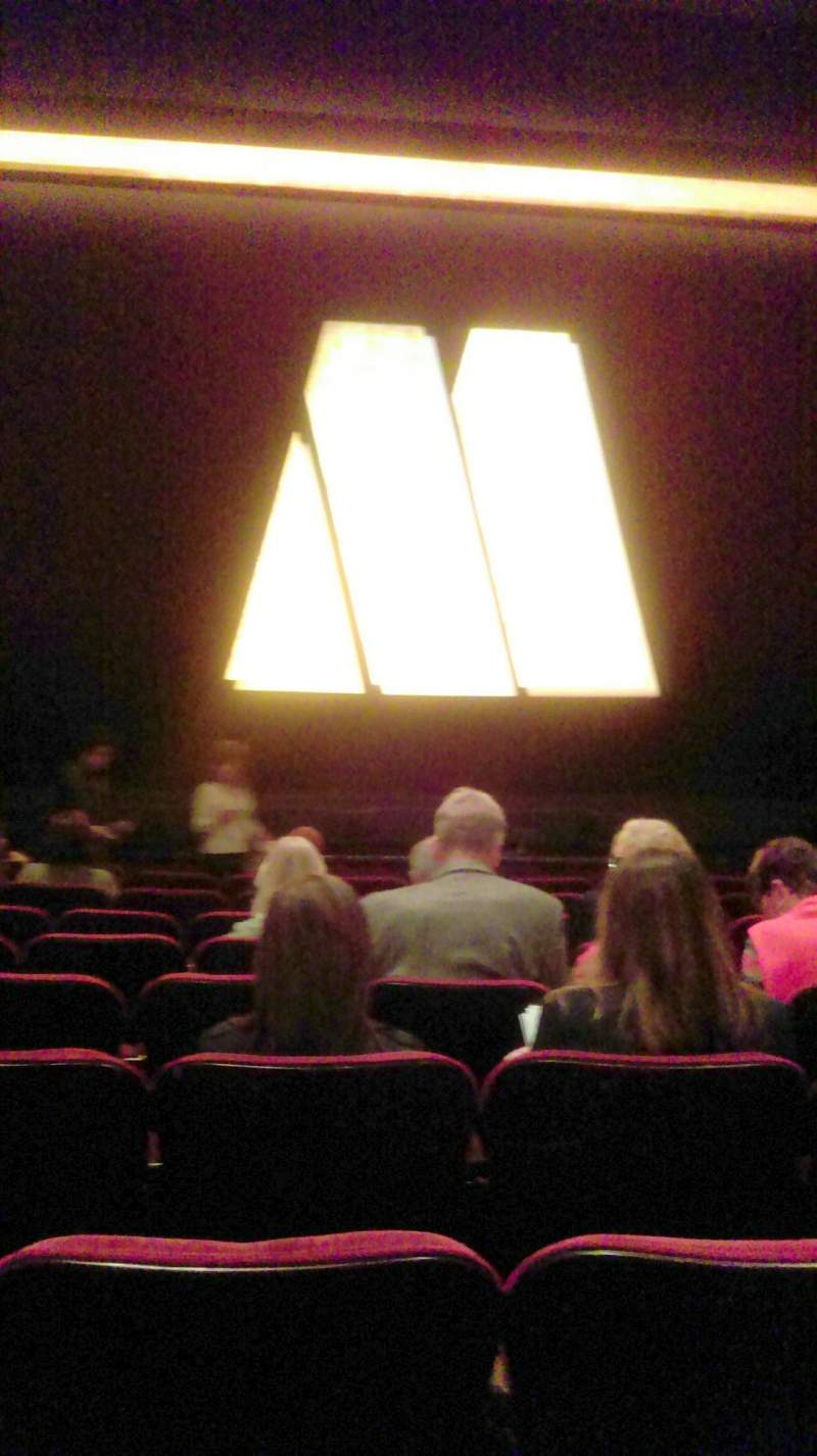 Seating view for Pantages Theatre (Hollywood) Section Orchestra C Row J Seat 111/112