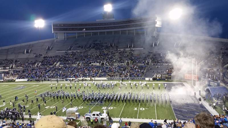 Seating view for Liberty Bowl Memorial Stadium Section 101 Row 54 Seat 17