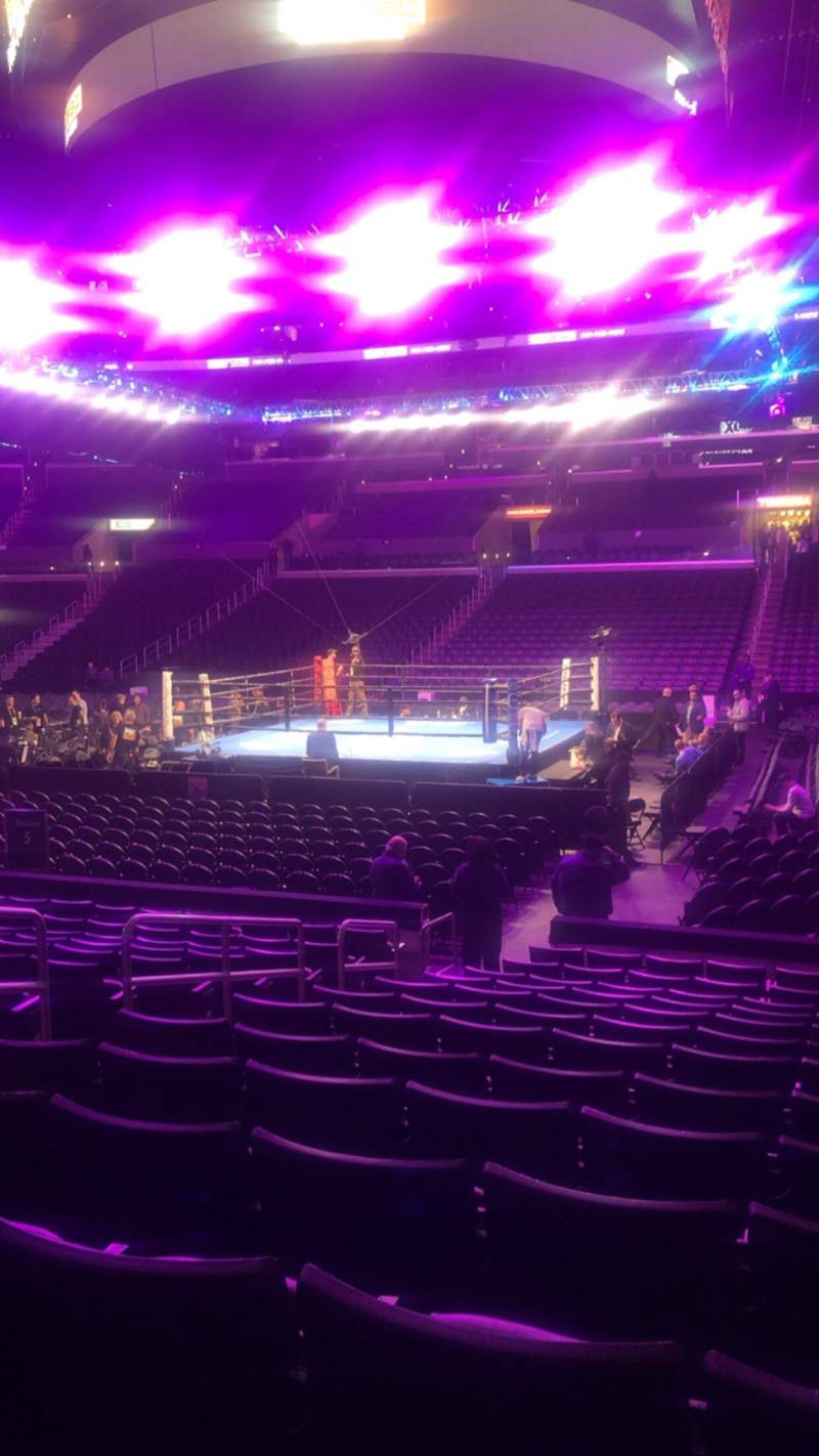 Seating view for Staples Center Section 110 Row 13 Seat 16