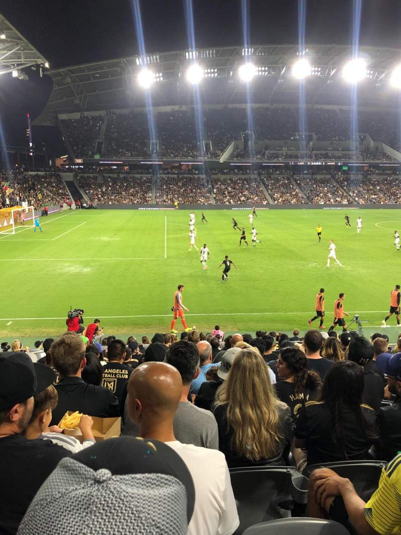 Seating view for Banc of California Stadium Section 134 Row M