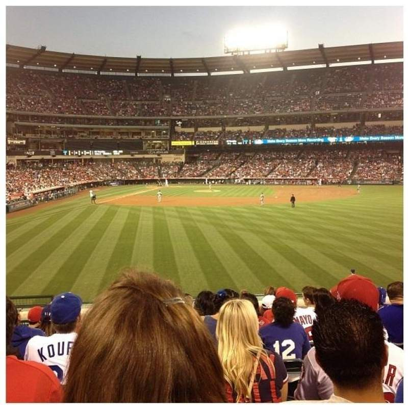 Seating view for Angel Stadium Section 237 Row L Seat 4