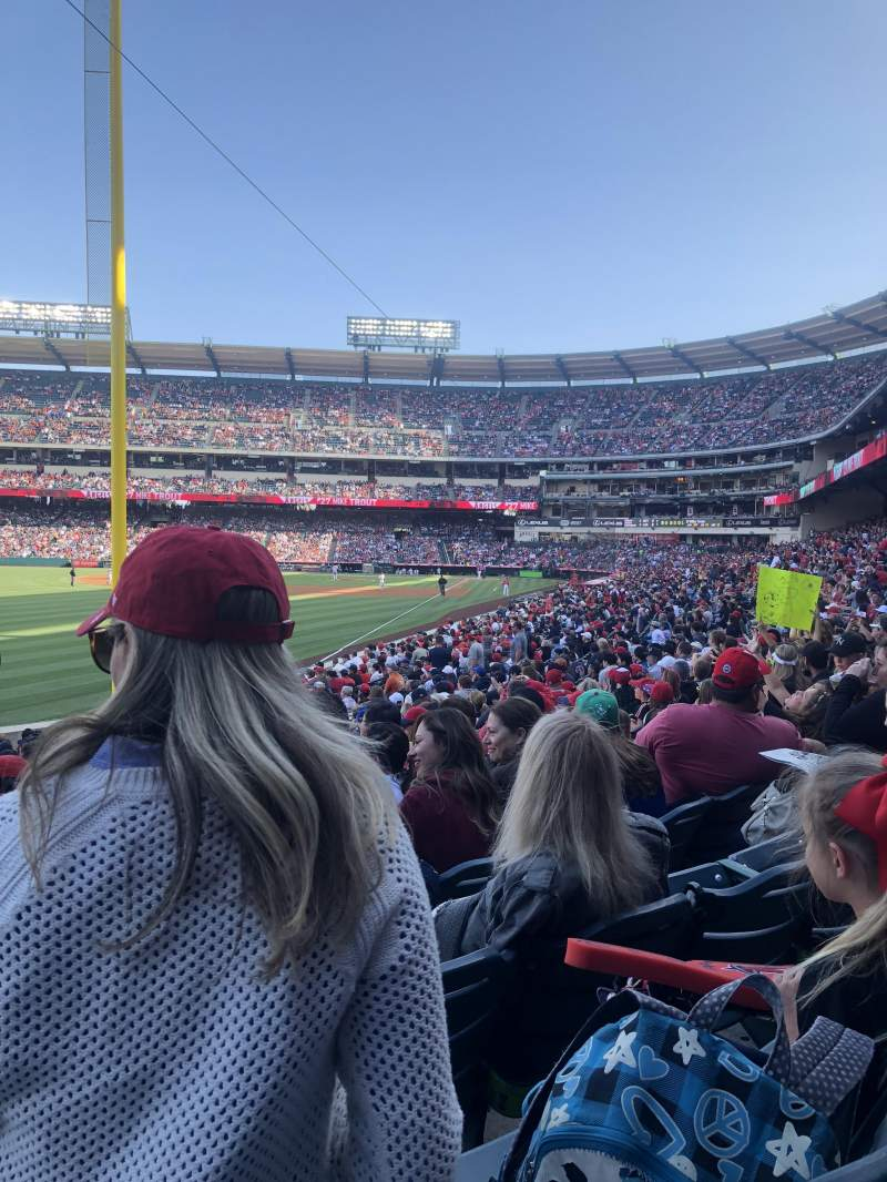 Seating view for Angel Stadium Section F102 Row X Seat 15